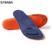 EFBABA Memory Foam Insole Sweat Absorpent Breathable Deodorant Damping Running Military Training Sports Insoles Shoes Insert
