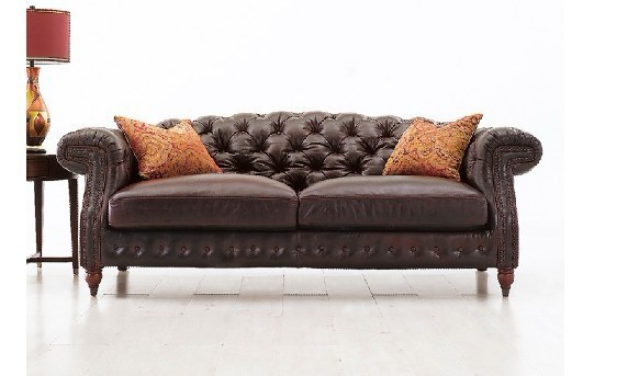 Jixinge High Quality Clic Chesterfield Sofa 3 Seater Leather