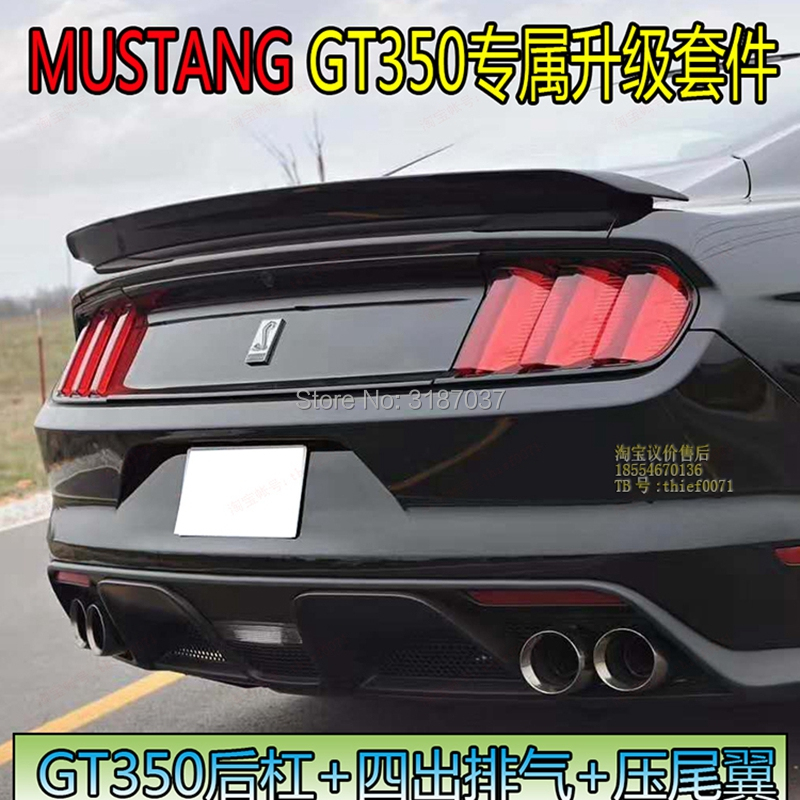 For Ford <font><b>Mustang</b></font> <font><b>2015</b></font>- 2017ABS Plastic Unpainted Color Rear Roof <font><b>Spoiler</b></font> Wing Trunk Lip Boot Cover Car Styling image