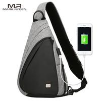 Mark Ryden 2018 New Arrival USB Recharging Chest Bag Men Messenger Bag Fashion Sling Bag Multi