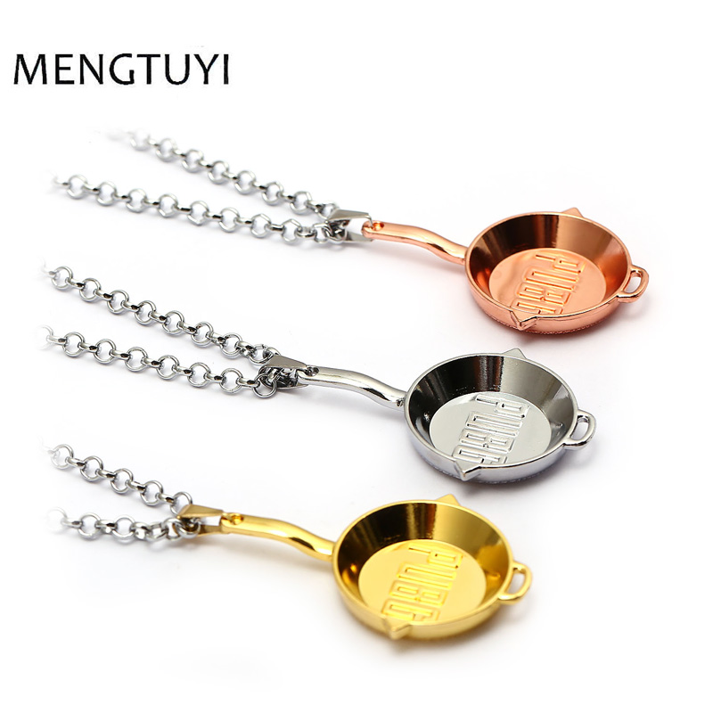 J Store Hot Game Playerunknowns Battlegrounds cosplay necklace pubg game alloy pans Pendant necklace Men Kids Gifts Jewelry