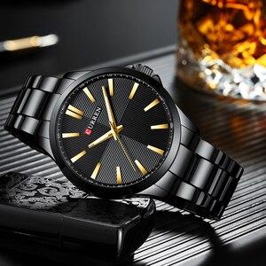 Image 3 - Men Watches 2019 Luxury Brand Stainless Steel Fashion Business Mens Watch CURREN Wristwatch Man Clock Waterproof 30 M Relojes