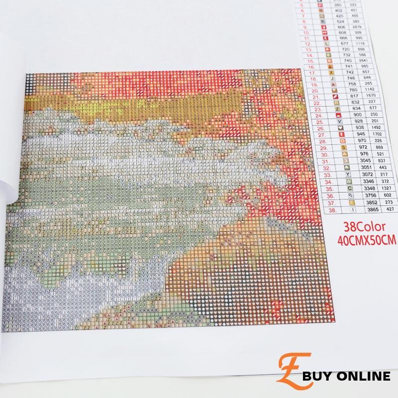 5 pièces triptyque multi-image combinaison Almaznaya mosaïque diamant broderie peinture photos de strass E5FMMP-2002 - 6