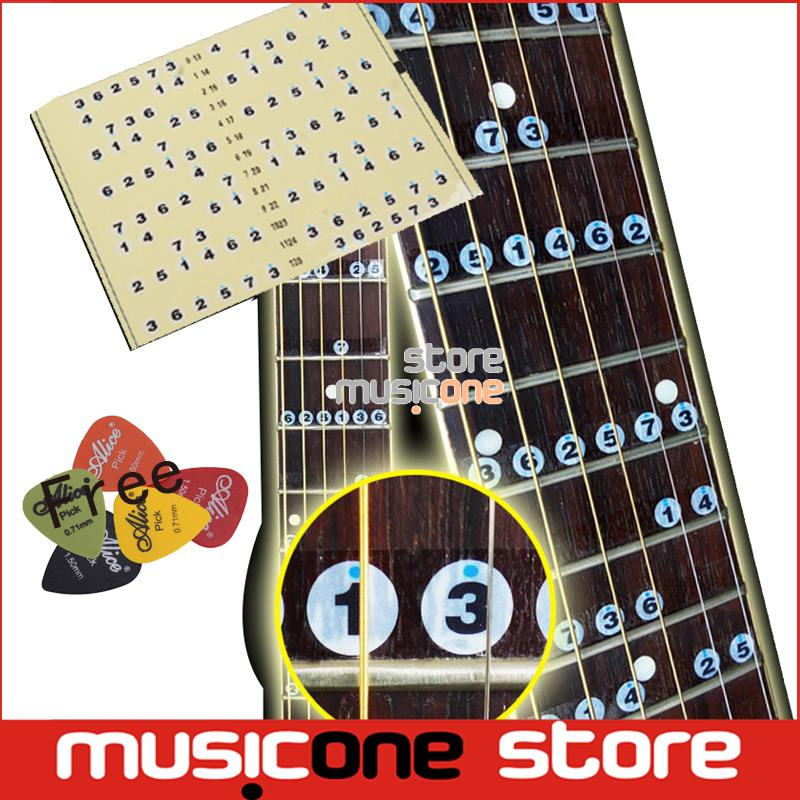 acoustic electric guitar fretboard note music stiker for sale decal neck fret stiker on guitarra. Black Bedroom Furniture Sets. Home Design Ideas