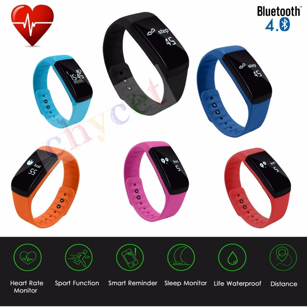 All Comatible font b Smart b font Band Bracelet Heart Rate Sleep Monitor Watch Passometer Fitness