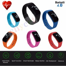 All Comatible Smart Band Bracelet Heart Rate Sleep Monitor Watch Passometer Fitness Tracker For iOS Android Wristband PK TW64