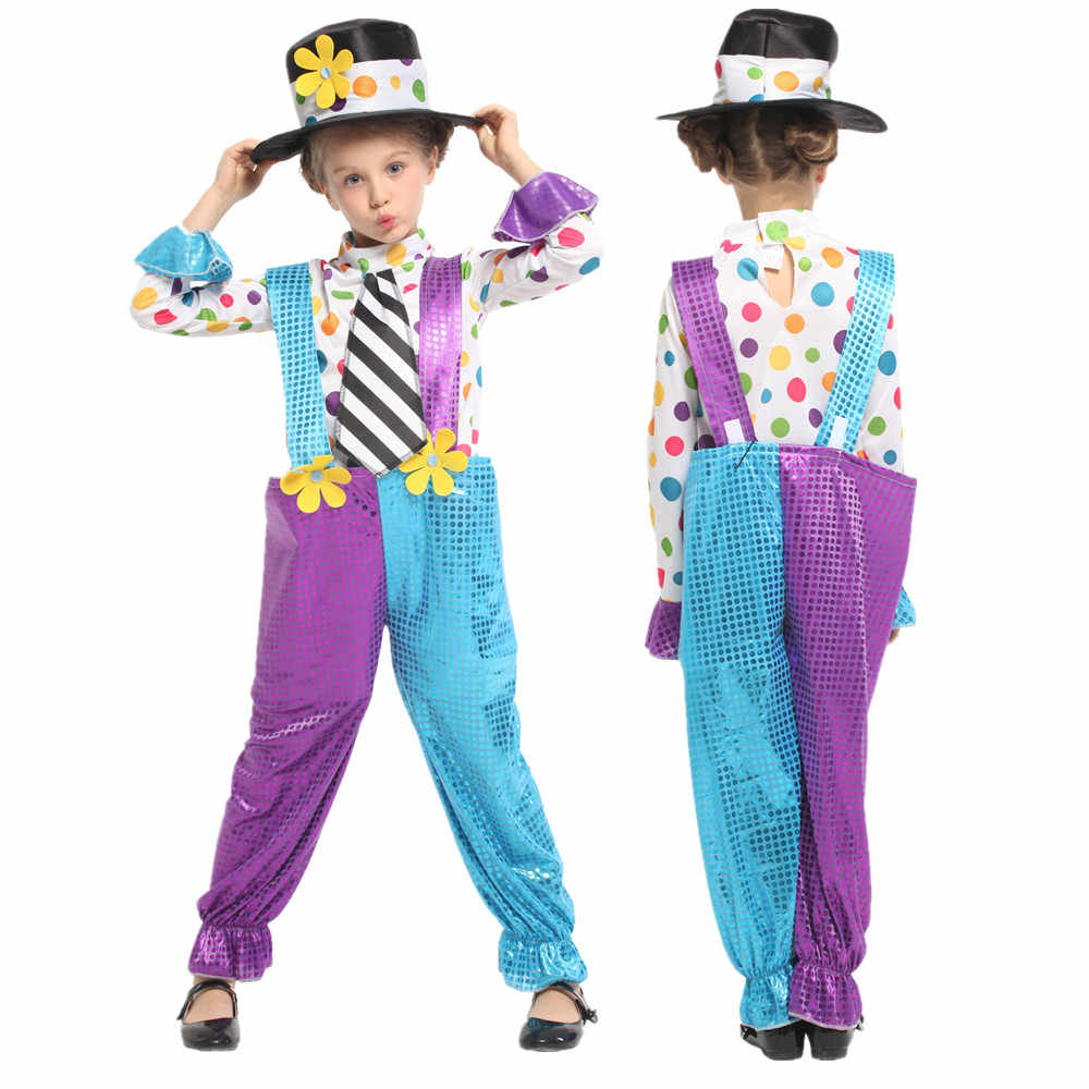 Christmas Fancy Dress Kids.Cute Naughty Jester Clown Costumes For Kids Girls Halloween Christmas Carnival Masquerade Fancy Dress Children S Cosplay Clothes