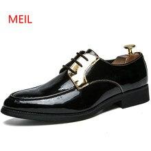 073c3bf84 Sapatos Formal Do Escritório Clássico Homens de Negócios Vestido Sapatos  Homem Moda Couro Apontou Toe Sapatos de Casamento Sapat.