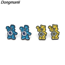 DMLSKY Care bears earrings Cartoon Jewelry Prevent allergy Stud Earring Pendant for Kids Girls Cute Accessories M2898