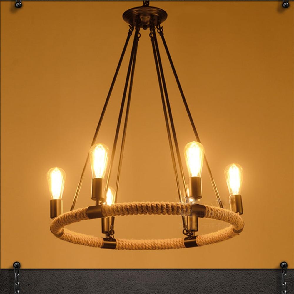 modern pendant lamps design Led pendant lights nordic vintage pendant lamp e27 220v for decor edison bulb light fixture rope led pendant lamps nordic pendant lights
