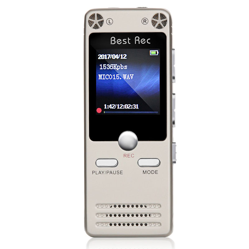 New Professional 8GB Digital Audio Voice Recorder Pen Mini MP3 Player Rechargeable Voice Activated Recording Dictaphone GDeals