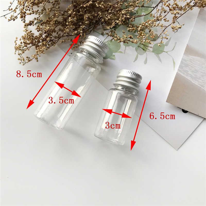 10/20ML boş kavanoz kozmetik kapları seyahat cam örnek şişesi ile alüminyum kapak küçük şampuan makyaj doldurulabilir şişeler