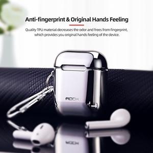 Image 4 - علبة واقية مطلية بالكهرباء من روك لأجهزة Airpods غلاف قوي لسماعة أذن Apple Airpods 1 2 غطاء حماية مطلي بالكهرباء