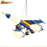 Hghomeart самолет подвесной светильник для детей спальня подвесной светильник лампы мультфильм Мальчик номер водить современный освещение дет