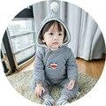 Новорожденных Малышей Одежда Мальчики Девочки Толстые Одежды Мягкий Хлопок One Piece Зима Теплая утконос Комбинезоны для Новорожденных Детская Одежда