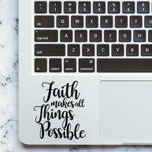 """""""Вера сделать все возможное"""" винил ноутбука Стикеры наклейка для трекпада для Apple MacBook Pro воздуха retina 11 12 13 15 дюймов"""
