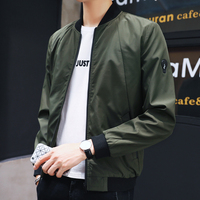Spring New Green bomber Jackets Men Pockets Fashion Jacket Windbreaker Classical Casual Coats Slim Fit YYS1808