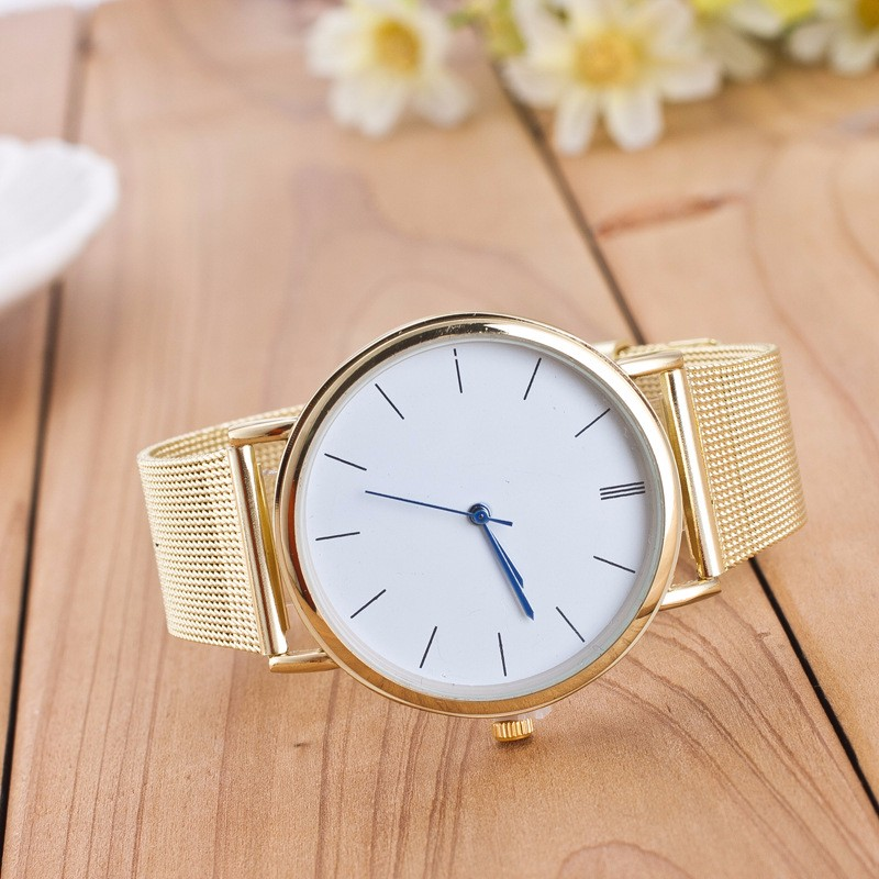 Men's Watches Tempter 2017 Famous Brand Gold Silver Casual Quartz Watch Women Mesh Stainless Steel Dress Women Watches Relogio Feminino Clock