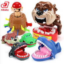Large Bulldog Crocodile Shark Mouth Dentist Bite Finger Game Funny Novelty Gag Toy for Kids Children Play Fun