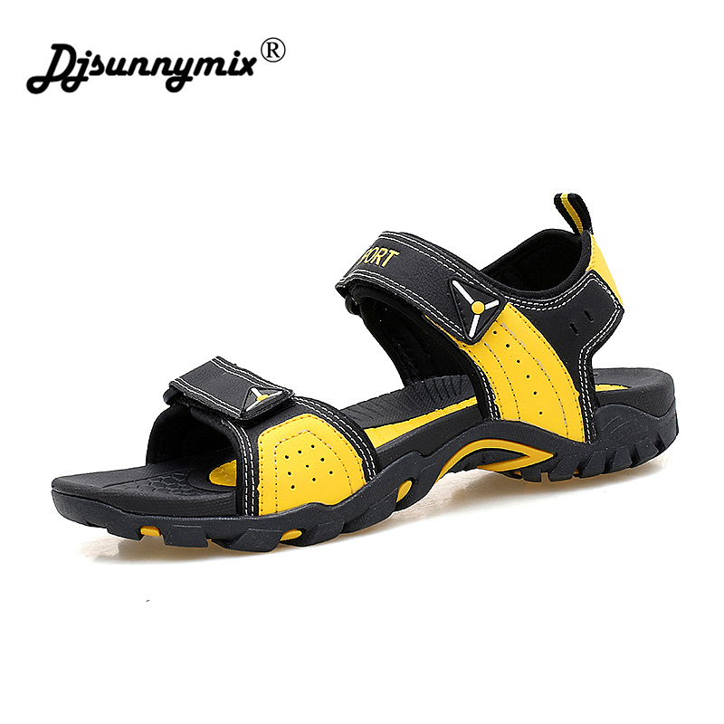 DJSUNNYMIX Men Beach Sandals Unisex Summer Breathable Shoes Outdoor Walking male Water Shoes plus size 35-46 цена 2017