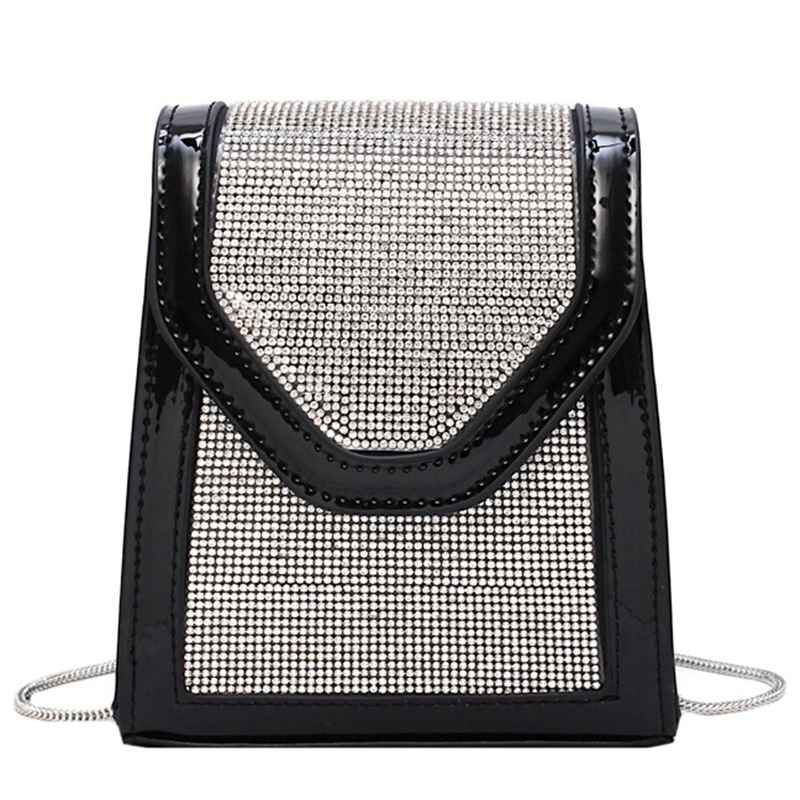 Billede af FGGS-Rhinestone Inlaid For Evening Party Fashion Banquet Fashion Shoulder Storage Totes Bags For Women Lady