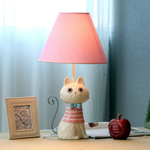 Creative Lovely Cartoon Iron Tail Cat E27 Dimmiable Table Lamp For Bedroom Bedside Lamp Children's Gift H 45cm 1816