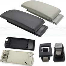 Top quality central leather armrest cover for Citroen C5 2011~2015 good C 5 box assembly