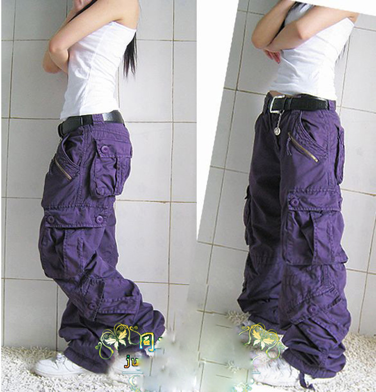 New Arrival Plus Size Cargo Pants Lovers Fashion Hip Hop Loose Jeans Baggy Pants For Women Girls Free Shipping