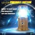 Recarregável LEVOU Lanterna de Acampamento Solar Lanterna Luz Modo 10 W Irradiação 200 M Lanterna Modo 5 W Saída USB para Carregamento móvel