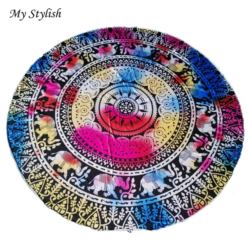 Hot Sale 2017 Durable Beautiful Round Beach Pool Home Shower Towel Blanket Table Cloth Mat High Quality Jan 6