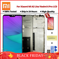 5.84 inch LCD display For Xiaomi Mi A2 Lite Touch screen digitizer assembly For Xiaomi Redmi 6 Pro Frame With Free shipping