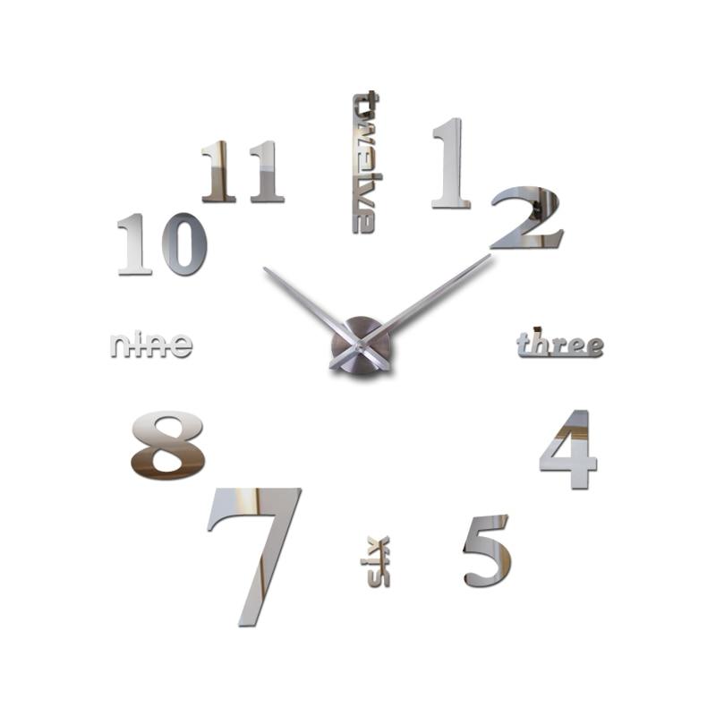 2019 új lakberendezési akril tükör falióra nappali kvarc tű óra Matricák órák modern design