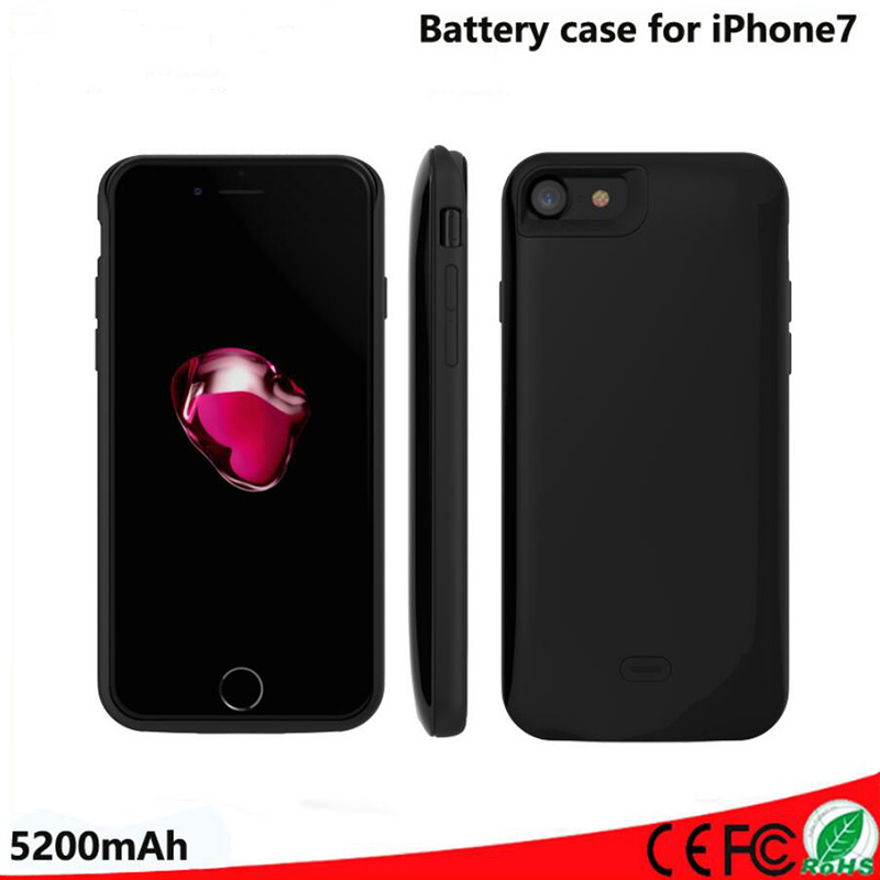 5200mAh Battery Charger Case For iphone 7 Extended Rechargeable Charging Case Power Bank Cover For iphone