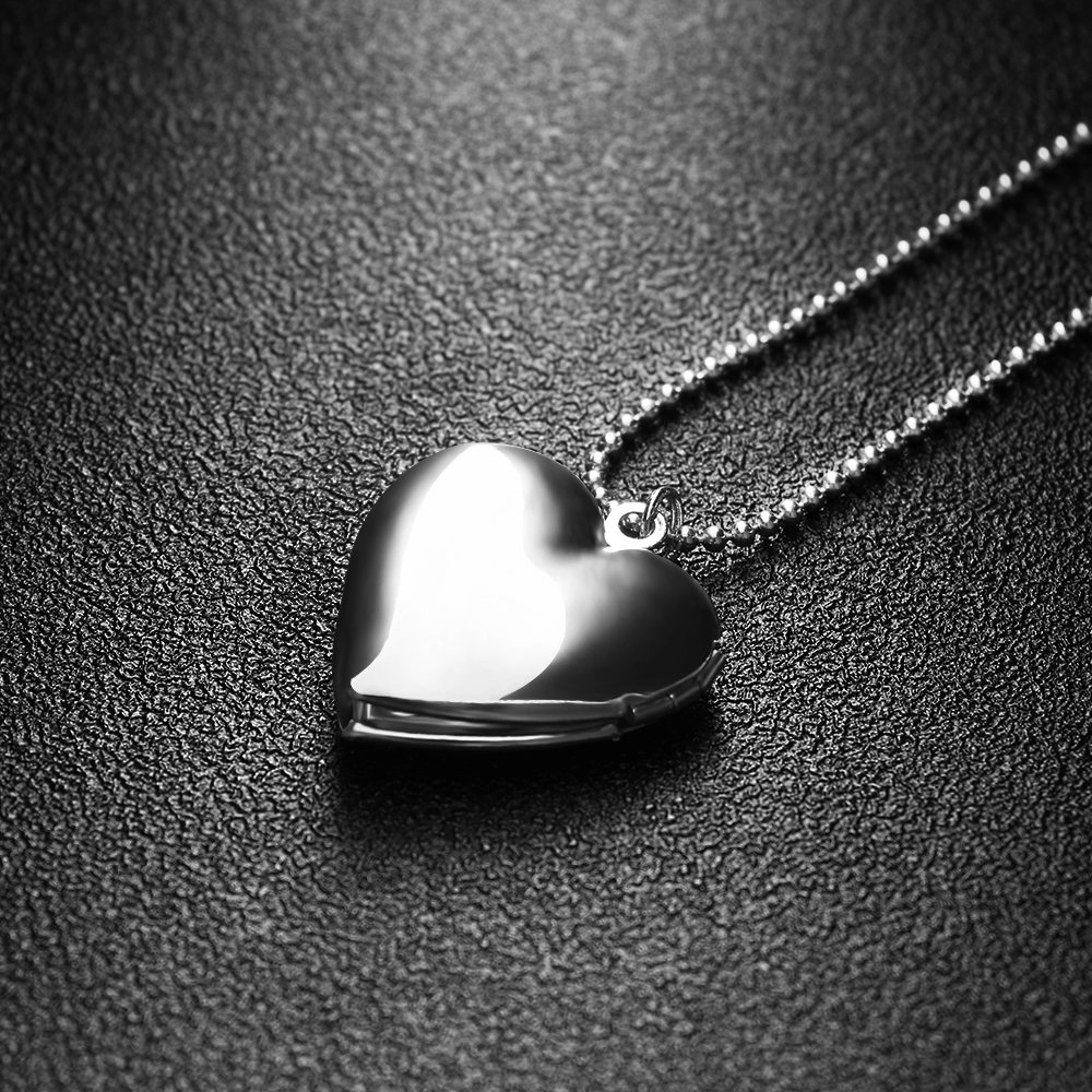 Heart Shaped Friend Lover Photo Picture Frame Locket Pendant Chain for Necklace Fashion Gift Jewelry locket