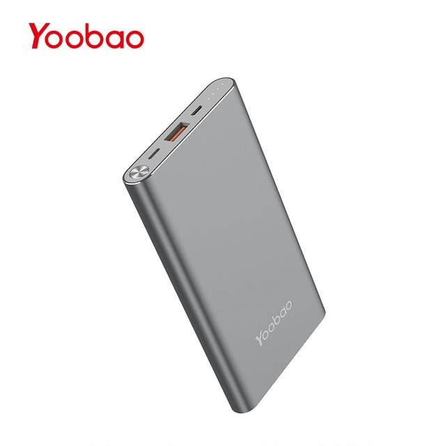 Yoobao A1 10000 мАч ультра тонкая литий-полимерный Резервное копирование Батарея Зарядное устройство Универсальный Портативный сотовый телефон банка Зарядное устройство для Iphone xiaomi LG