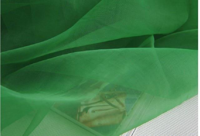 Green 150cm 1 5m Width 10yards Lot Soft Light Organza Sheer Fabric Dress Ball