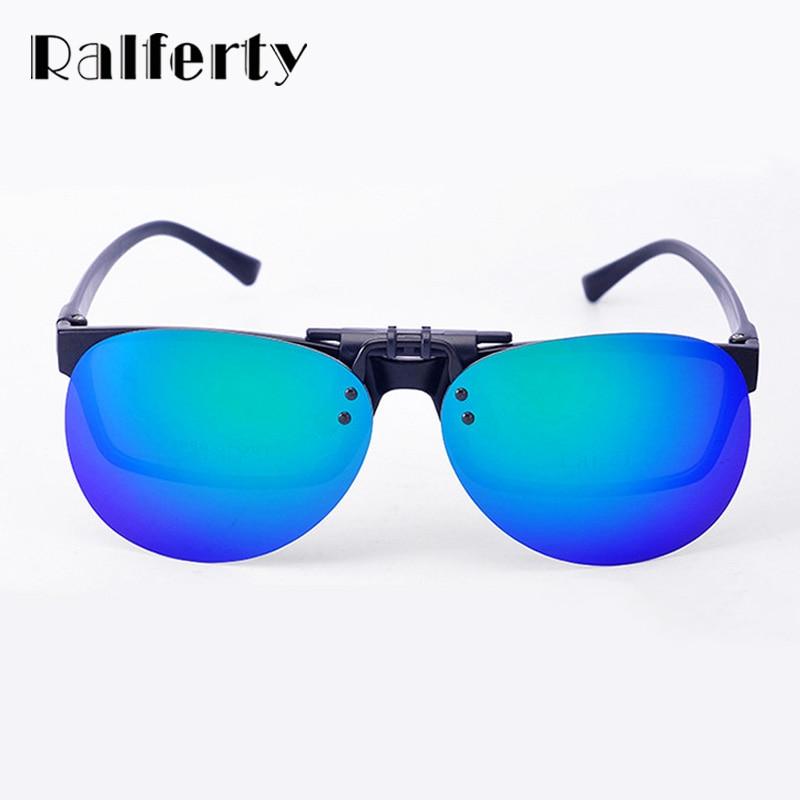 3208da15ea7 Ralferty Mirror Pilot Polarized Sunglasses Men Night Vision Lens Polaroid  Sun Glasses Flip Up Clip On Sunglass Outdoor Goggles-in Sunglasses from  Apparel ...