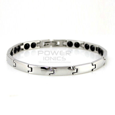 Power Ionics Armband 100% Titan Germanium Balance Body Band 6mm - Modeschmuck - Foto 2