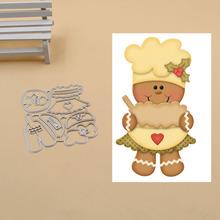 Christmas gingerbread man Metal Cutting Dies Stencils for DIY Scrapbook Photo Album Paper Card Decorative Craft Embossing Die
