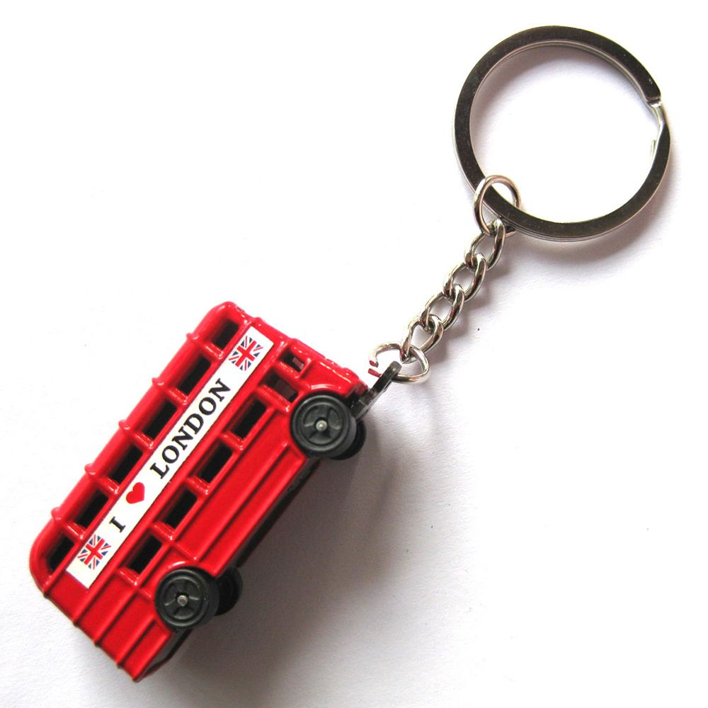 London bus Key Holder keychain British red bus keychain double-decker bus key ring wallet tool