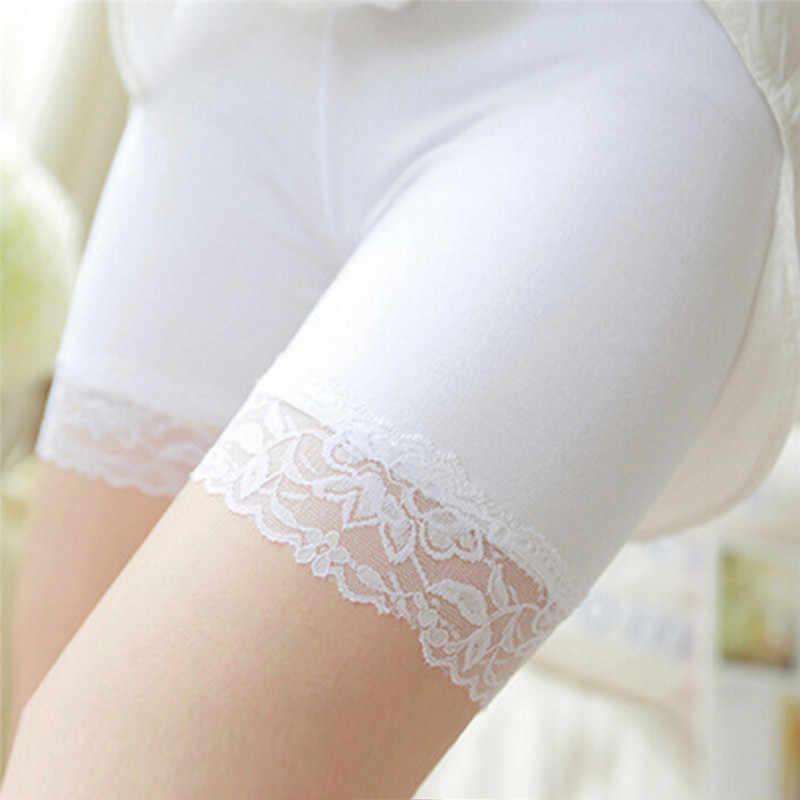 1pc Frauen Boxer Briefs Weiche Spitze Nahtlose Atmungsaktive Hose Sicherheit Kurze Intime Hose Shorts Größe: 26cm * 31cm