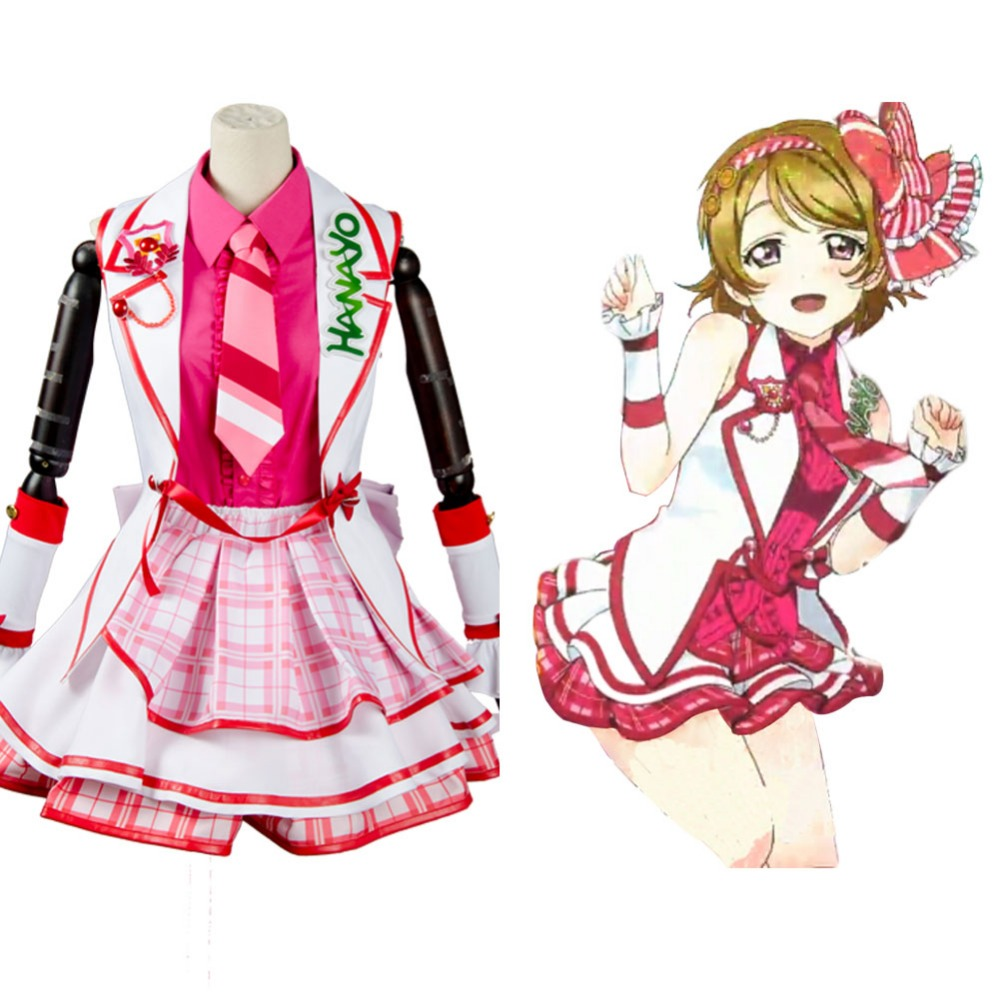 Love Live!SIF Hanayo Koizumi Cosplay Costume Outfit Uniform After School Dress Halloween Carnival Adult Women Full Set