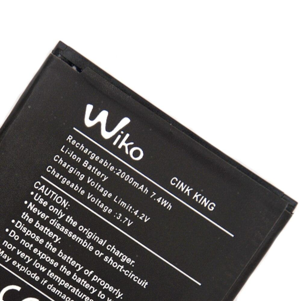 Backup 2000 mAh Da Bateria Original Para Wiko Cink Rei Inteligente Do Telefone Móvel + + Em Estoque