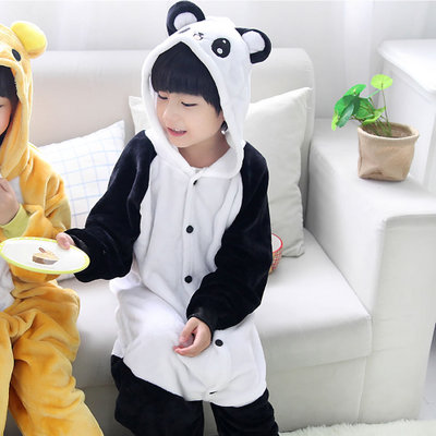 Free Shipping Boys Girls Kids Pajamas Winter Children Flannel Animal  Onesiesl panda Pajamas Kid Onesie Sleepwear Animal Pajamas 720b211d79f3