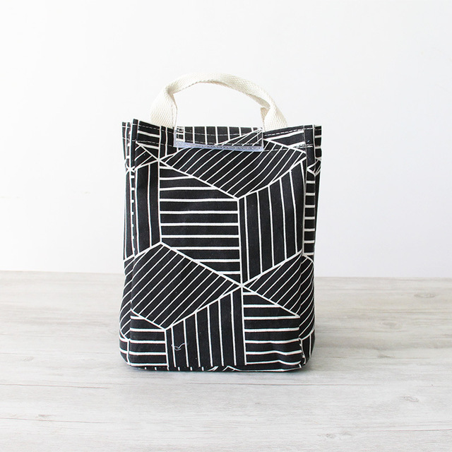 Cute Patterned Eco-Friendly Cotton Lunch Bag