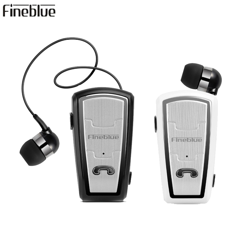 New Fineblue FQ208 Bluetooth Headset Retractable Sport Wireless Earphone Clip Headphones with Micr Handsfree Bluetooth for Phone