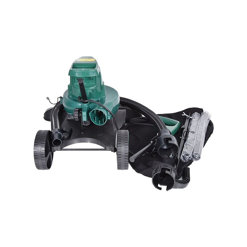 ZJMZYM 3 in 1 D5881/VB-RTK-500 Electric Leaf Suction Machine Four-wheeled Handheld 1600W Powerful Leaf Blower & Vacuum 220v/50Hz