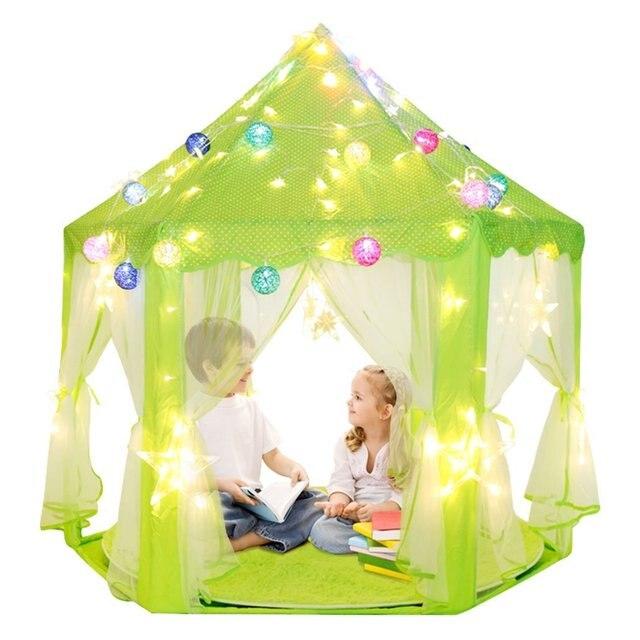 dalosdream enfants int rieur princesse ch teau jouer tentes rose princesse tente enfants jeu. Black Bedroom Furniture Sets. Home Design Ideas