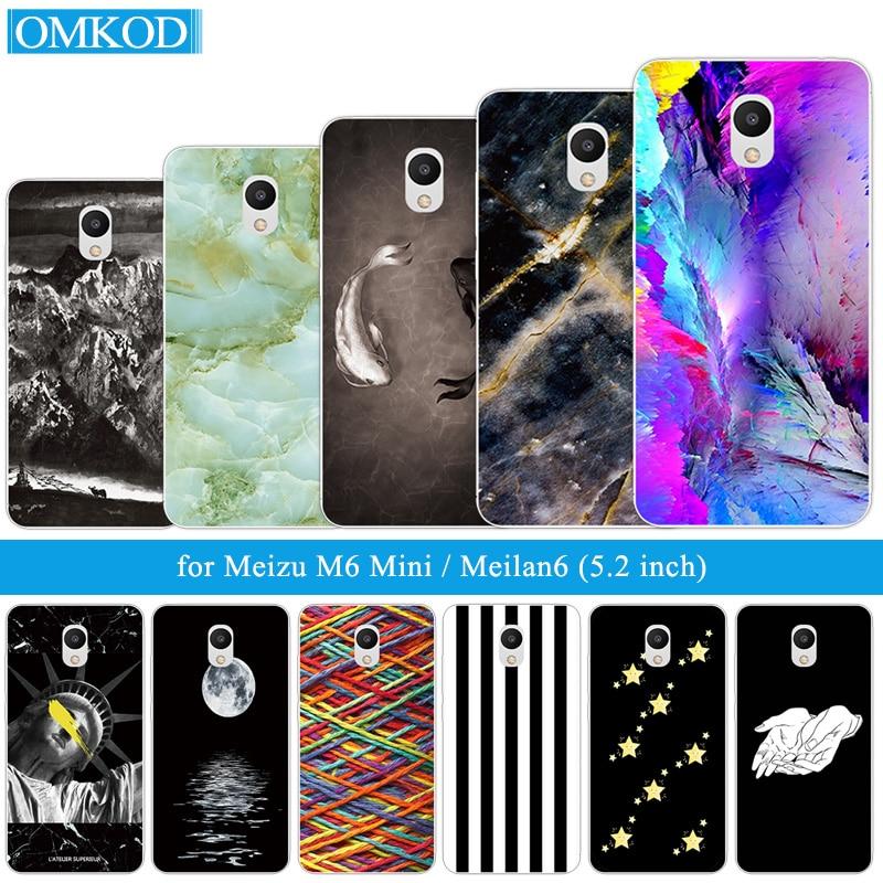 for Meizu M6 Mini Case Cover Soft TPU Fish Phone Case for Meizu M6 Mini Back Protective for Meizu M6 Meilan6 Shell Silicone