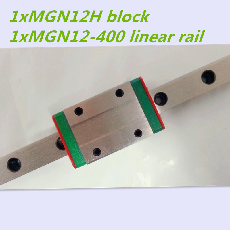 MGN12 12mm linear rail slide MGN12-L400mm rail+MGN12H carriage cnc parts 3d print parts cnc axkmini mgn12 12mm miniature linear rail slide 1 set 3pcs 12mm l 200mm rail 3pcs mgn12h carriage